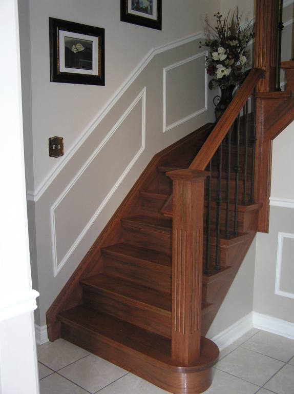... Treads Ensuring It Will Look Like A Completed Hardwood Staircase. Stair  Capping Is Typically Installed In 1 Day Minimizing Any Inconvenience To You.